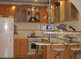 bar attractive modern kitchen design with corner shape combined