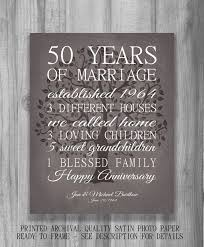 50th anniversary gift for parents wedding anniversary gifts 50 years lading for