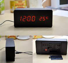 aj6035 digital led wooden alarm clock