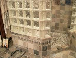 glass block designs for bathrooms shower glass block shower wall with door glass blocks for