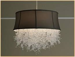 Crystal Drum Shade Chandelier Drum Shade Chandelier With Crystals Home Design Ideas