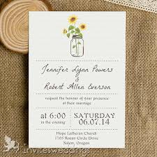 Marriage Cards Simple Rustic Sunflower Mason Jar Wedding Cards Iwi339 Wedding
