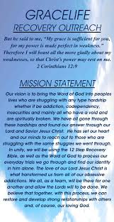 gracelife church recovery outreach mission statement gracelife