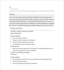 Sample Resume For Freelance Writer by Writer Resume Template U2013 24 Free Samples Examples Format