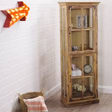 curio cabinet large solid wood curioetssolidets with glass