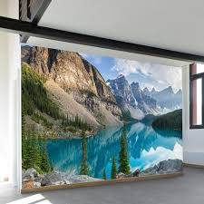 moraine lake wall mural wallsneedlove