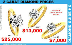 2 carat engagement ring price cost of a 1 carat ring 2 carat prices cost of 1