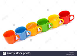 beautiful coffee cups on a white background stock photo royalty