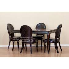 Distressed Black Dining Table Black Distressed Dining Set 4 Chairs Mahogany Furniture