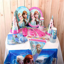 online cheap frozen birthday decoration set frozen anna elsa theme