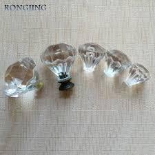 10pcs plastic dresser knobs plexiglass furniture accessories