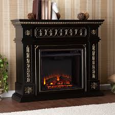 shop boston loft furnishings 47 in w 4700 btu black wood veneer