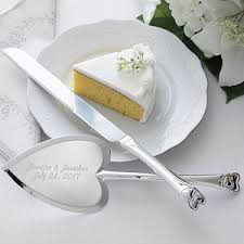 wedding cake knife personalized wedding cake knife server set heart design