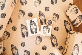 design your own wrapping paper printed wrapping paper tian gan printmaking design