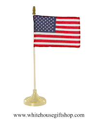 American Flag House This American Indoor Or Outdoor Stick Flag With Gold Plated Base