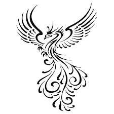 great tribal flying peacock tattoo design tattooimages biz