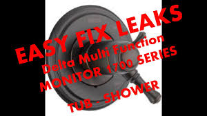 fix leaking delta monitor 1700 tub shower part rp46463 youtube