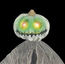 jack o lantern pumpkin head tree man led eyes spooky halloween