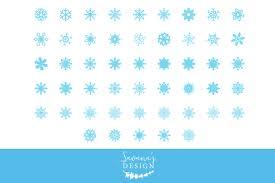 snowflake clipart illustrations creative market
