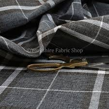 Gry Colour Louise Scottish Inspired Tartan Design Chenille Upholstery Fabric