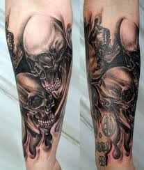 amazing skull tattoos full sleeve skull tattoos cool tattoos bonbaden