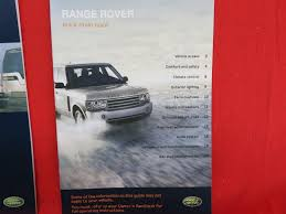 2007 land rover range rover owners manual with case bashful yak