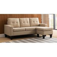 beige sectional sofas you u0027ll love wayfair