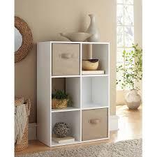 6 Shelf Bookshelf Mainstays 6 Cube Storage Multiple Colors Walmart Com