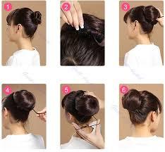 hair bun clip girl stylish pony clip in on hair bun hairpiece extension