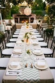 wedding reception table runners gray chevron table runner linen cloth chivari ballroom chairs