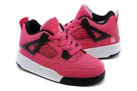 kid jordans kids 4 pink black white shoes various colors designer