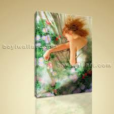 abstract painting hd print female body art home decor