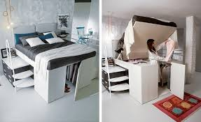 Closet Under Bed | a full closet is hidden under this bed contemporist