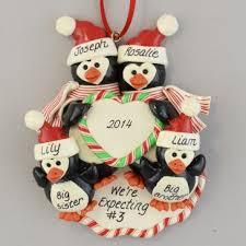 pregnant penguin family expecting 3 ornament calliope designs