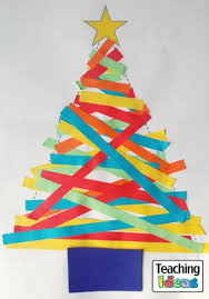 paper strip christmas trees teaching ideas