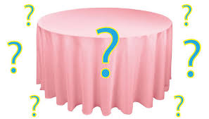 Table Linen Sizes - linen sizes choosing the right tablecloth