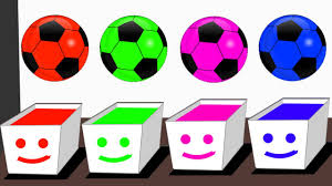 colors for children learn with color soccer balls color soccer