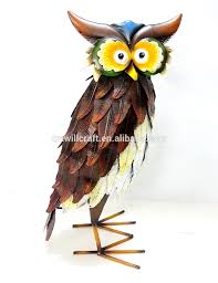 metal painting iron owl lawn ornaments buy iron owl lawn