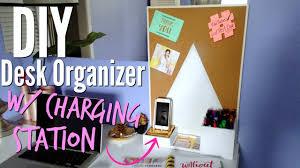 diy desk organizer with charging station ikea hack youtube