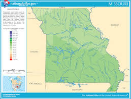 map of missouri river map of missouri lakes streams and rivers