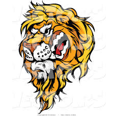 cartoon vector snarling male lion mascot chromaco 903