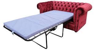 buy pillarbox red velvet fabric chesterfield sofa bed online