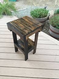 Free End Table Plans Woodworking by Best 25 Pallet End Tables Ideas On Pinterest Diy End Tables