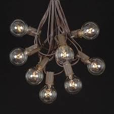 globe string lights brown wire clear g40 globe round outdoor string light set on brown wire