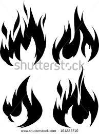set 9 black fires design tattoo stock vector 195035504 shutterstock