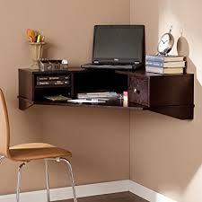 southern enterprises corner desk amazon com southern enterprises reese wall mount corner desk