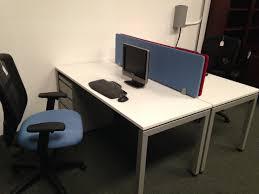 Blue Computer Desk White Elements Desk With Blue Divider Golden State Office Furniture