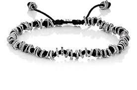 men jewelry bracelet images M cohen beaded knotted cord bracelet black men jewelry bracelets jpg