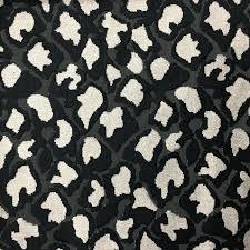 hendrix leopard pattern cut velvet upholstery fabric by the yard