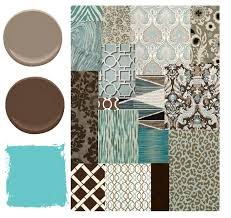 blue brown and aqua color palette places in the home diy